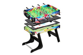 4 in 1 Game Table Convertible Football Table Tennis Ice Hockey Snooker