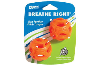 ChuckIt! Small 2 Pack of Breathe Right Fetch Dog & Puppy Balls (Chuck It)