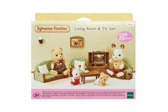 Sylvanian Families Living Room and TV Set
