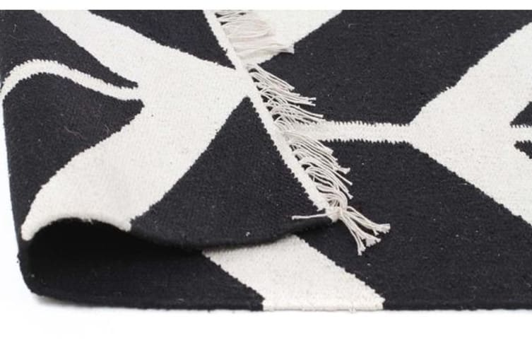Fantasy Firefly Black Chevron Dreams Handmade Wool Rug 280x190cm