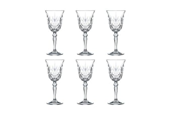 RCR Crystal Melodia Red Wine Glassess 270ml Set of 6