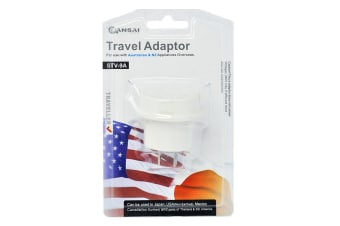 Sansai Travel Adapter - Japan, USA, China, Philippines, Canada & More (STV-9A)