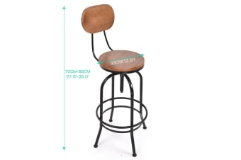 Levede 3pc Industrial Pub Table Bar Stools Wood Chair Set Home Kitchen Furniture  -  I