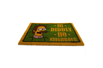 The Simpsons Flanders Doormat (Green/Yellow) (One Size)