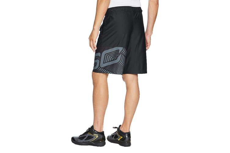 "Under Armour Men's SC30 Core 11"" Shorts (Black/Stealth Gray, Size Medium)"