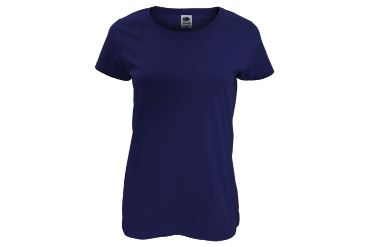 Fruit Of The Loom Womens/Ladies Short Sleeve Lady-Fit Original T-Shirt (Navy) (L)
