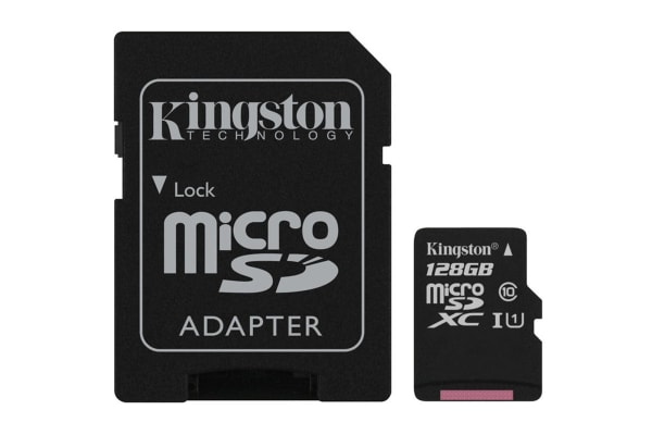 Kingston 128GB microSDHC Canvas Select 80Mb/s CL10 UHS-I Card with SD Adapter