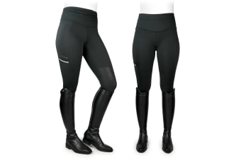 Whitaker Womens/Ladies Pellon Riding Tights (Black)