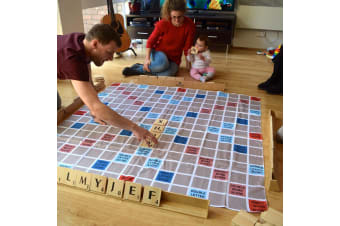 Giant Play on Words Wooden Board Game Indoor/Outdoor