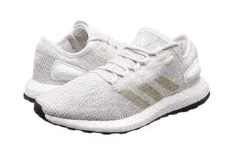 Adidas Men's PureBOOST Running Shoe (White/Grey)
