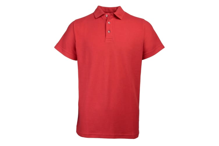 RTY Enhanced Vis Mens Hi Visibility Safetywear Polo Shirt (Pack of 2) (Enhanced Red) (4XL)