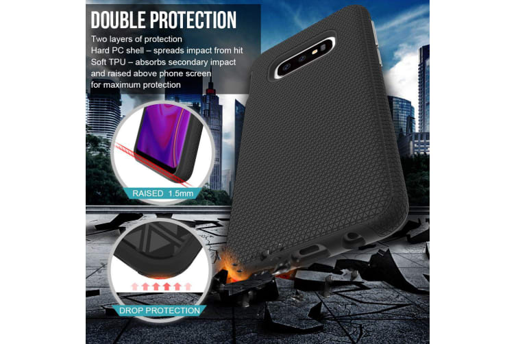 For Samsung Galaxy S10e Case  Armour Black Protective Durable Slim Phone Cover