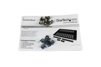 StarTech.com 1U Adjustable Mounting Depth Vented Rack Mount Shelf - 175lbs /