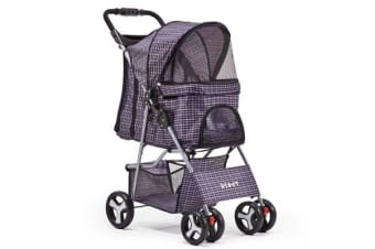 Pet 4 Wheel Pet Stroller (Blue)