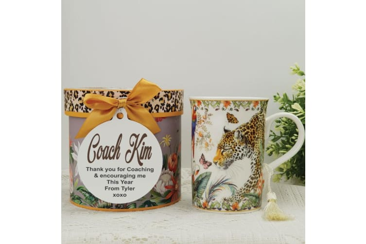 Leopard Mug with Personalised Gift Box