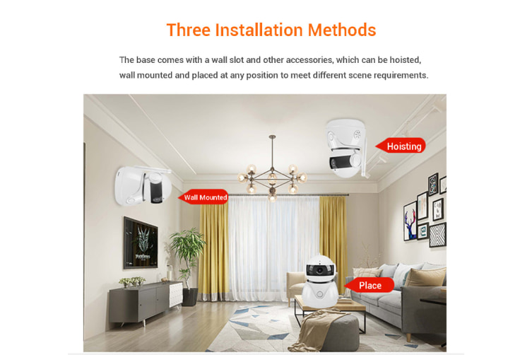 360° Wireless 1080P Baby Cat Dog Monitor WiFi IP Cam P2P Infrared Home Security Baby Monitor Dome Security Camera