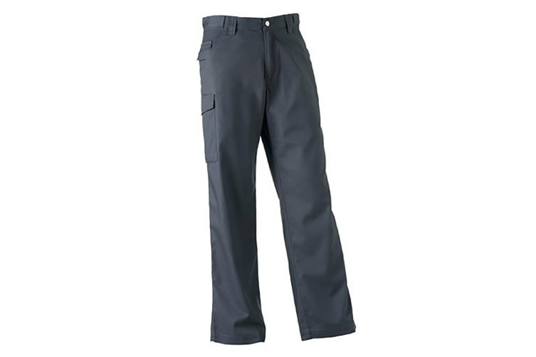 Russell Workwear Mens Polycotton Twill Trouser / Pants (Long) (Convoy Grey) (42W x Long)