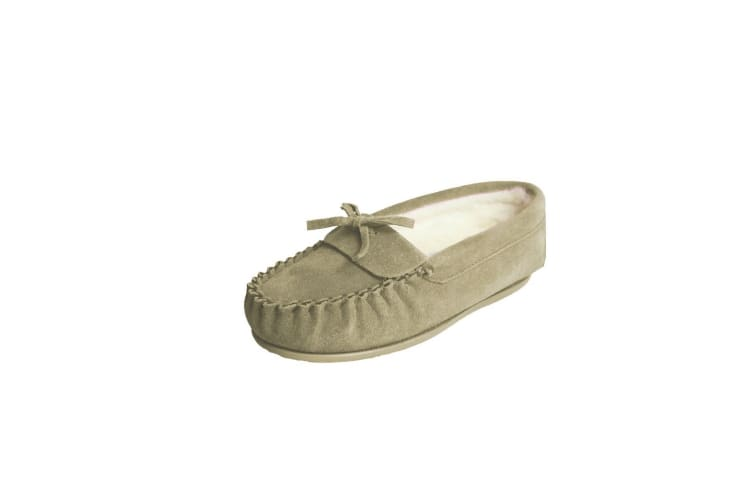 Eastern Counties Leather Womens/Ladies Edie Wool-blend Lined Moccasins (Camel) (3 UK)
