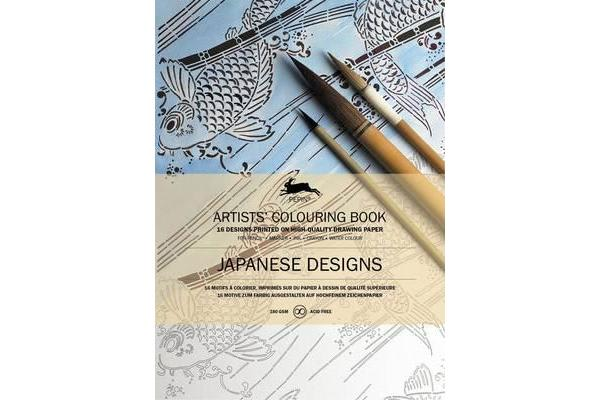 Japanese Designs - Artists' Colouring Book