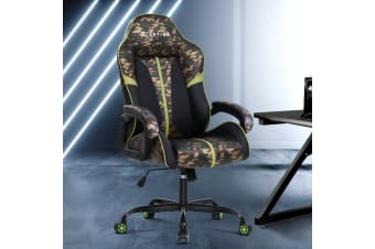 Artiss Gaming Office Chair Computer Chairs Leather Seat Racing Racer Camouflage