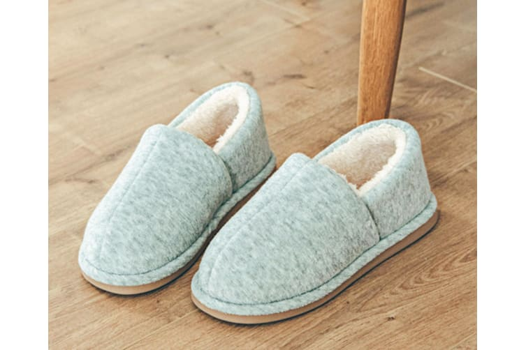 Comfy Fuzzy Knit Cotton Memory Foam House Shoes Slippers - Light Grey Grey 41-42(260Mm Length)