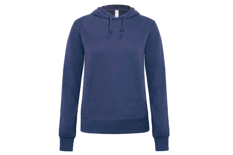 B&C Denim Womens/Ladies Universe Hooded Sweatshirt/Hoodie (Dark Heather Blue) (M)