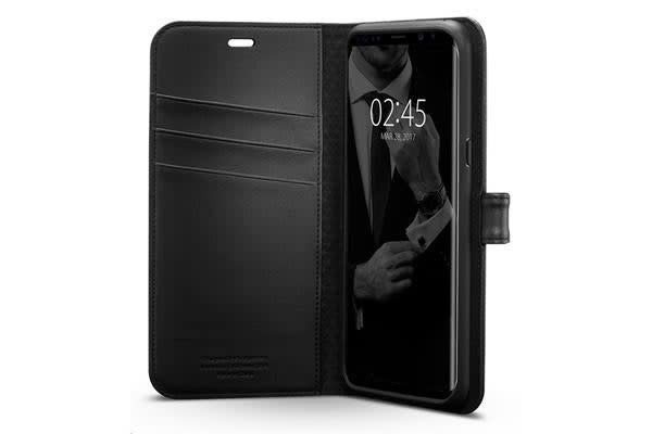 Spigen Premium Wallet Case for Galaxy S8+ - Black