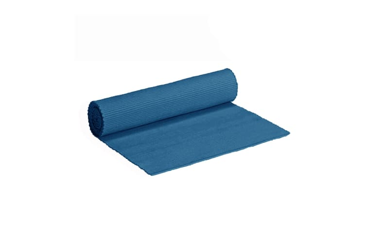 Cotton Ribbed Tabler Runner New Blue by IDC Homewares