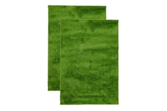 Pack of 2 Awesome Shag Rugs Lime
