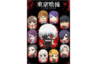 Tokyo Ghoul Chibi Characters Poster (Multi-coloured) (One Size)