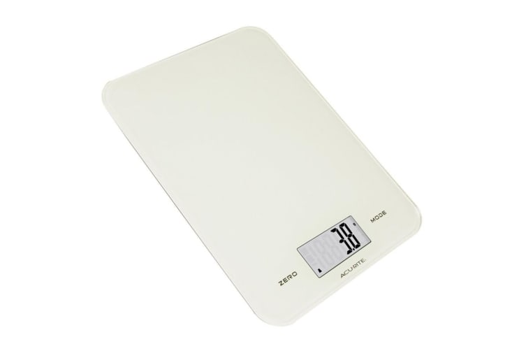 2x Acurite Large Slim Line Glass Digital Kitchen Food Measure Scale 1g 8kg White