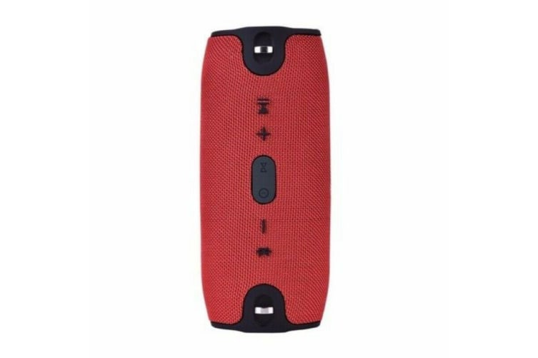 Wireless Bluetooth Speaker HIFI Portable Outdoor Rechargeable Stereo USB/TF/AUX-Red