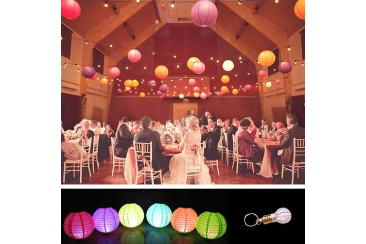 Paper Lanterns for Wedding Party Festival Decoration - Mix and Match Colours  -  12 pcsYellowWarm White - 6000K