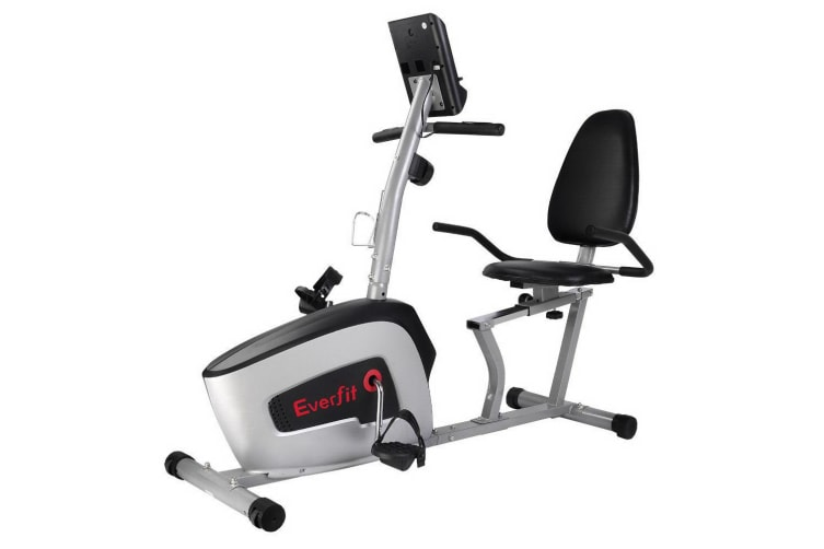 Magnetic Recumbent Exercise Bike Fitness Cycle Trainer with LCD Display