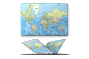 hard case cover for apple macbook pro 13 touch bar ID A1707 A1989 A1990 A2159-96Worldmap-Ink