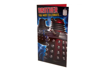 Doctor Who Brother Birthday Card (Multicoloured) (One Size)