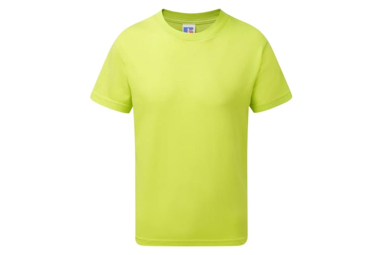 Jerzees Schoolgear Childrens/Kids Slim Fit Cotton T-Shirt (Lime) (7-8 Years)