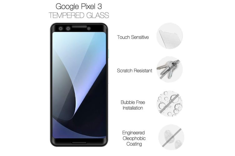 For Google Pixel 3 3D Full Screen Tempered Glass Screen Protector iCoverLover