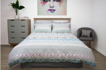 Ardor Boudoir Aztec Quilted Quilt Cover Set (Queen)