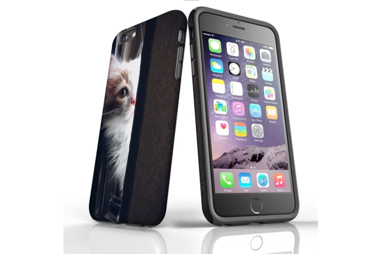 For iPhone 6S Plus Case  Protective Back Cover  Peeking Kitten