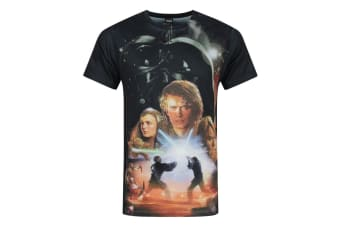 Star Wars Mens Revenge Of The Sith Sublimation T-Shirt (Multicoloured)