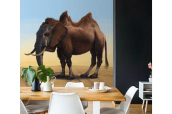 3D Elephant Animal 1398 Wall Murals Exclusive Designer Vincent Self-adhesive Vinyl, XXL 312cm x 219cm (WxH)(123''x87'')