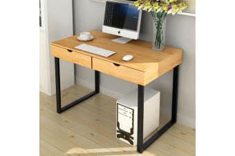 120cm Computer Desk Home Office Workstation W/2 Drawers Study Table