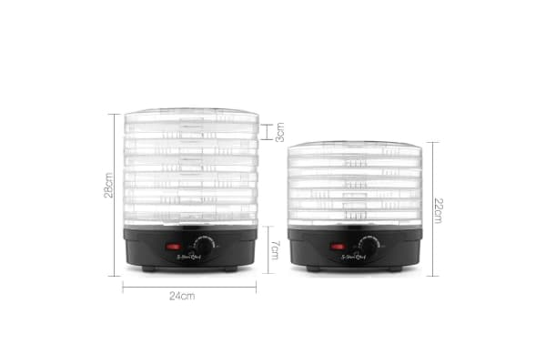 5-Star Chef 7 Tray Food Dehydrator (Black)