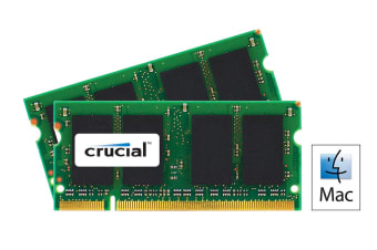 Crucial 4GB Kit (2GBx2) DDR2 667MHz (PC2-5300) CL5 SODIMM 200 Pin for Mac