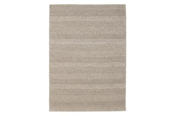 Hand Braied Grey Felted Wool Rug 225x155cm