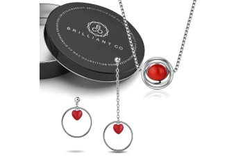 Boxed Mystick Love Necklace and Earrings Set