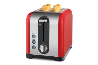 Kambrook Extra Lift 2 Slice Stainless Steel Toaster - Red (KT260)