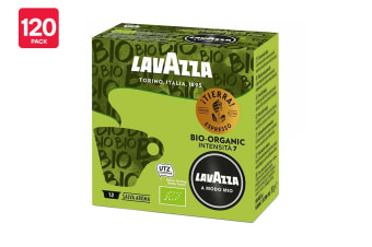 Lavazza A Modo Mio Tierra Bio-Organic Coffee Capsules - 120 Pack (10 Packs of 12)