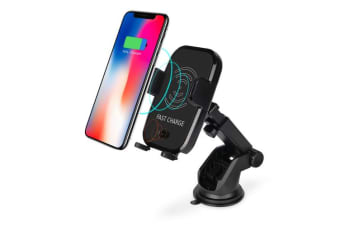 10W Qi Wireless Fast Charger Car Phone Holder Automatic Clamping
